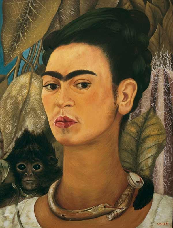 autorretrato-con-monos-frida-kahlo