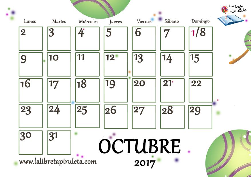 CALENDARIO OCTUBRE 2017 mini