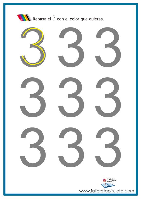 El número 3