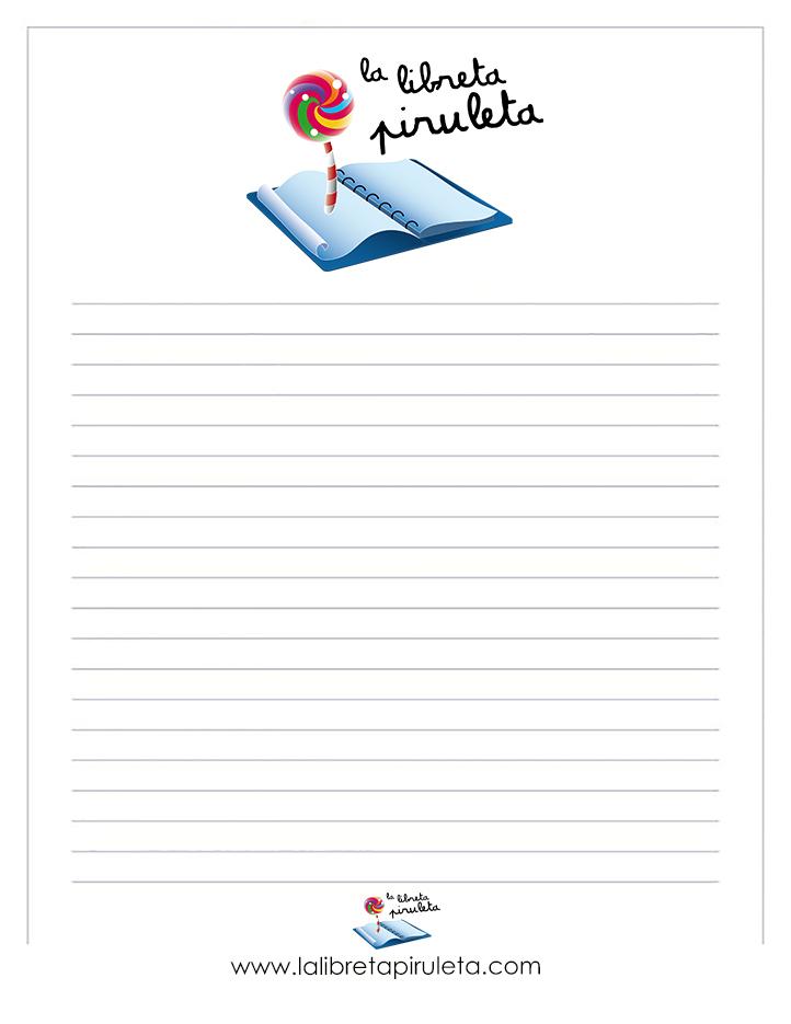 Plantillas de escritura al estilo piruleta - La libreta piruleta