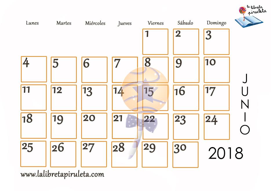 Nuestros calendarios para descargar e imprimir la for Calendario de pared 2018