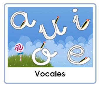 Fichas de las vocales para imprimir