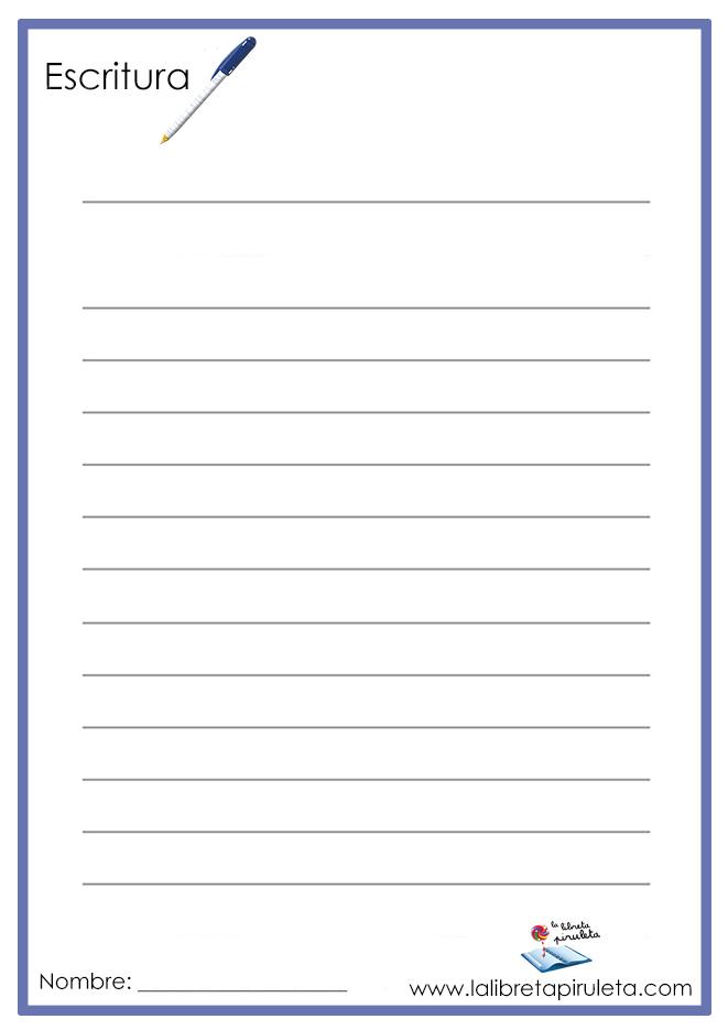 pauta 1 línea