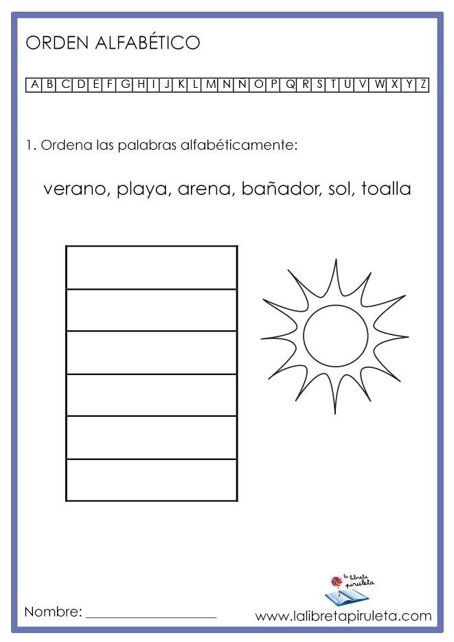 01 ORDEN ALFABÉTICO verano MINI