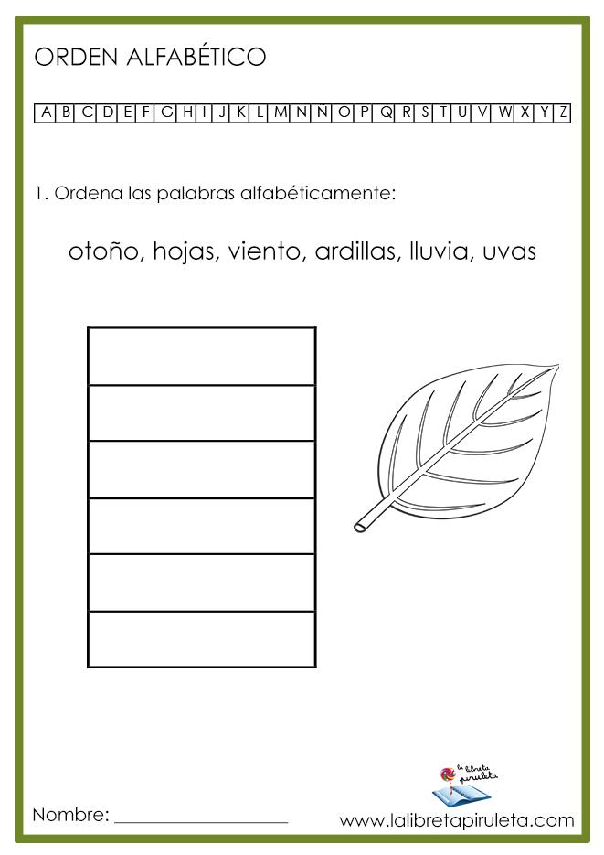 02 ORDEN ALFABÉTICO otoño MINI