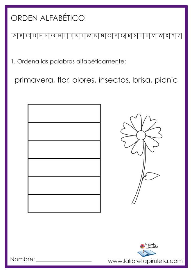 04 ORDEN ALFABÉTICO primavera MINI