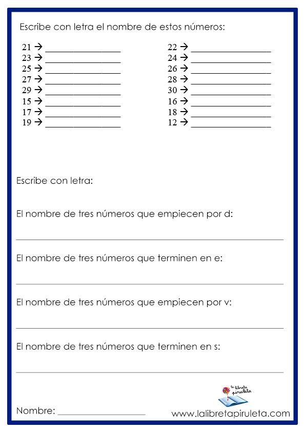Números y su escritura