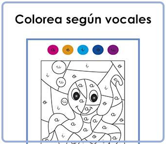 Fichas De Dibujos Para Colorear Según Vocales La Libreta Piruleta