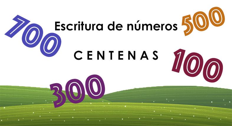 Escritura de números - centenas