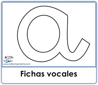 Fichas de las vocales para rellenar