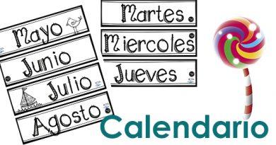 calendario en infantil