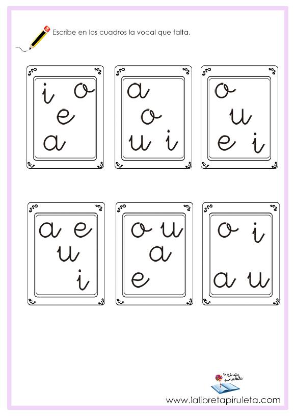 Actividades con las vocales para imprimir
