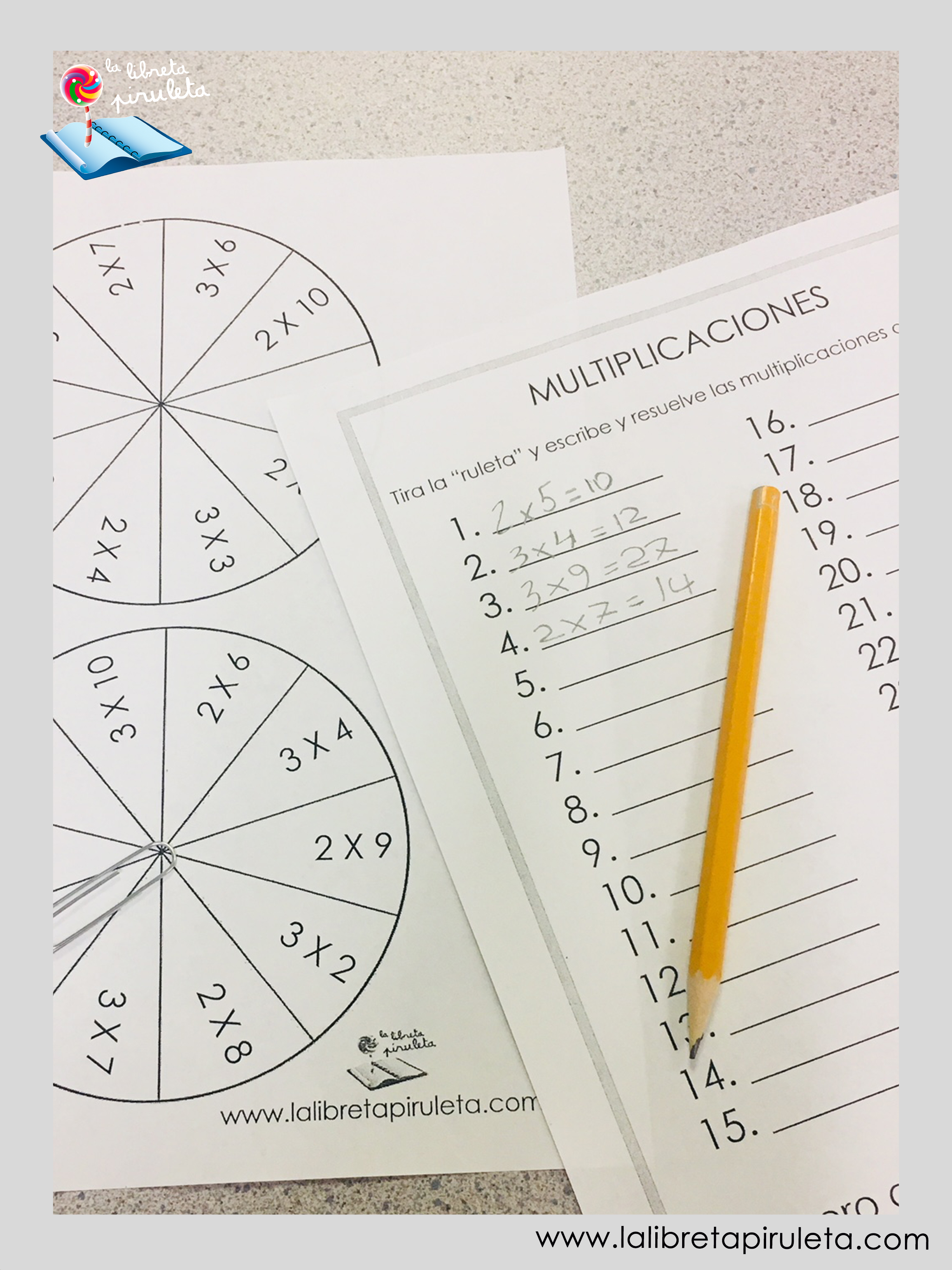 Multiplicaciones en primaria