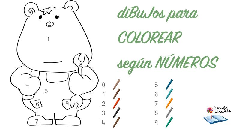 Colorear Segun Numeros Dibujos Para Disfrutar La Libreta