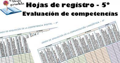 Hojas de registro