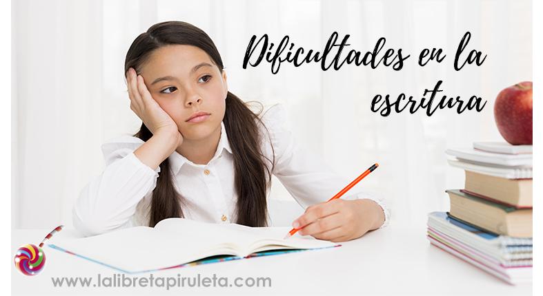 Dificultades de escritura