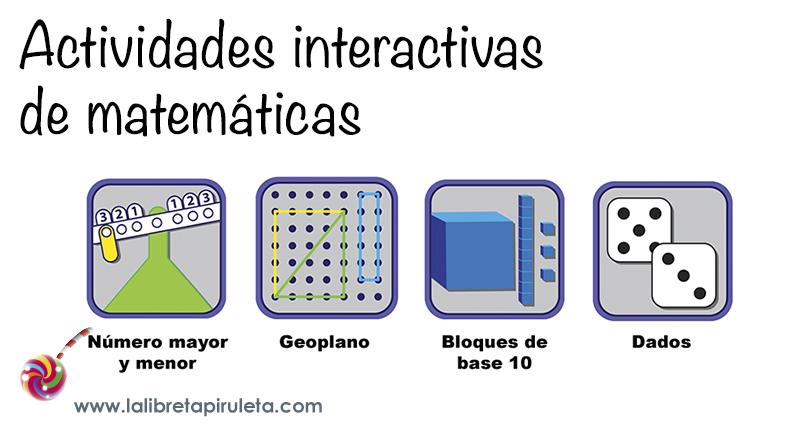Actividades Interactivas De Matemáticas La Libreta Piruleta