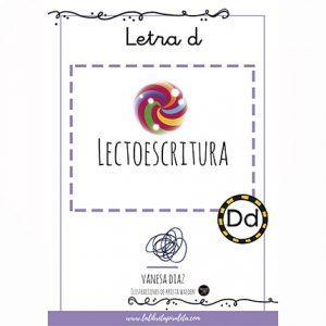 LECTOESCRITURA: Cuadernillo de la letra D
