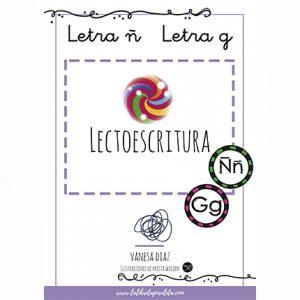 LECTOESCRITURA: Cuadernillo de las letras Ñ, G