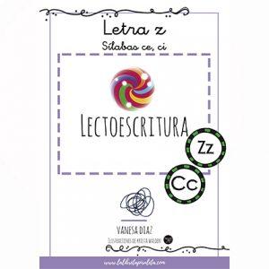 LECTOESCRITURA: Cuadernillo de las letras Z, Ce-Ci